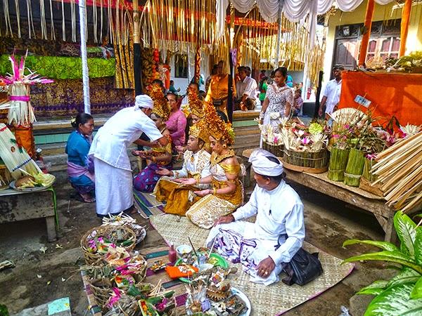 Una ceremonia balinesa en Bali