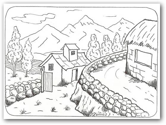 Dibujos Para Colorear De Un Paisaje: Dibujos Para Colorear Paisajes