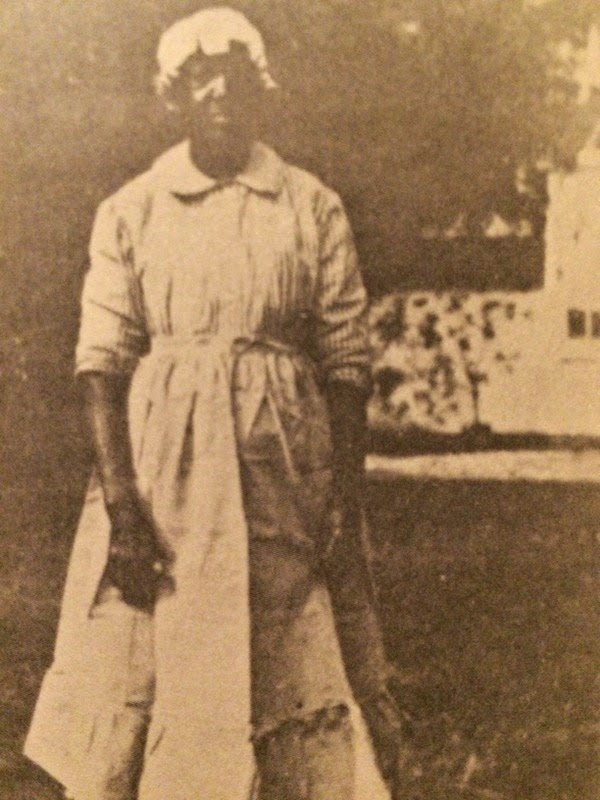 Photo of the cook from page 30 of the book 'Saga of Baron Frederick de Bary & de Bary Hall, Florida'