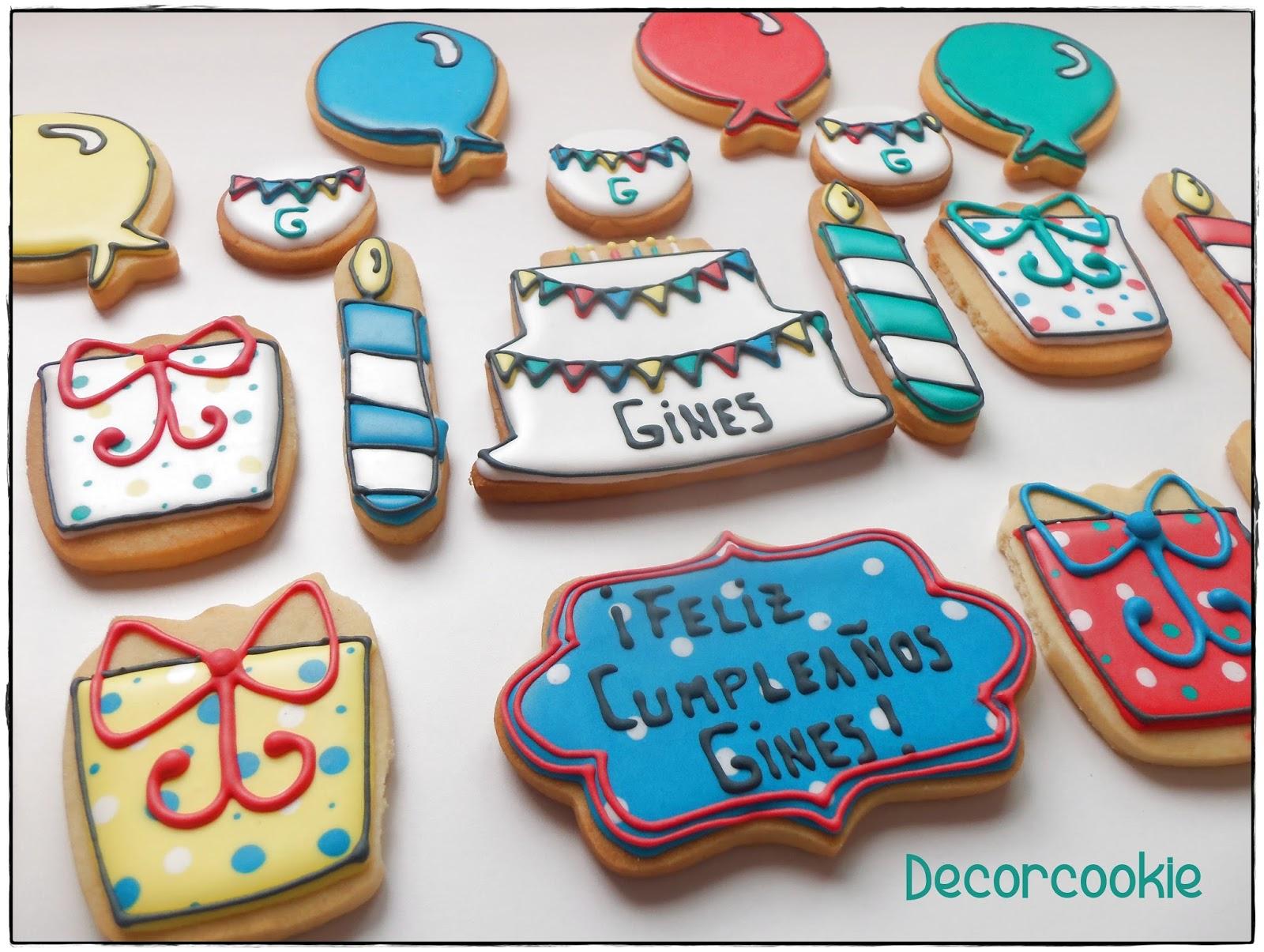 Galletas Decoradas Decorcookie Galletas De Cumpleaños Decoradas Con Glasa