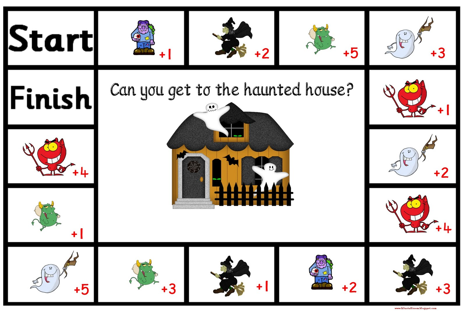 Debbie S Resource Cupboard Haunted House Board Game
