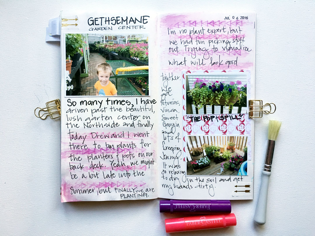 Slowing Down for the Simple Summer Things. Documenting #LIttleSummerJOY in a midori. Holly www.paintedladiesjournal.com