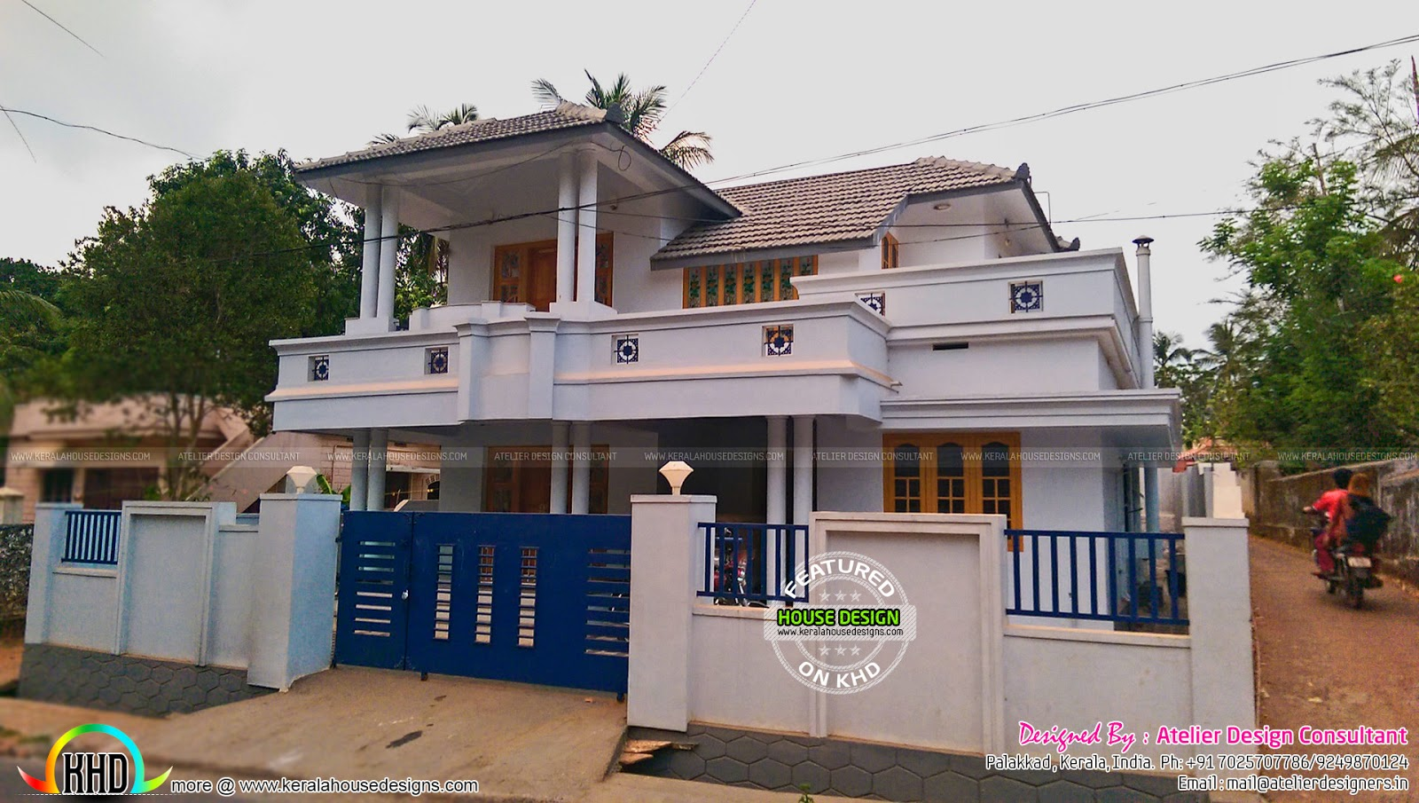 Finished house nu kerala by atelier design kerala home for House plans with finished photos