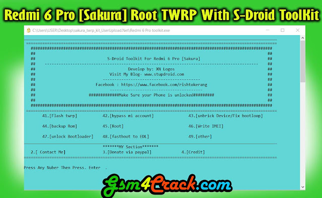 Download Redmi 6 Pro [Sakura] Root TWRP With S-Droid ToolKit
