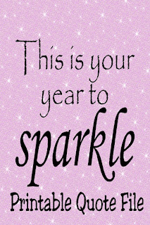 Whatever your New Years resolutions are This is your year to Sparkle! Remember to do that all year long with this printable quote set.  You'll find this fun quote printable in many different sizes as well as a Facebook cover photo and phone wallpaper! #printablequote #newyearsquote #inspirationalquote #phonewallpaper #facebookcoverphoto #diypartymom