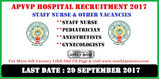 APVVP Hospital Staff Nurse & Other Vacancies Recruitment 2017