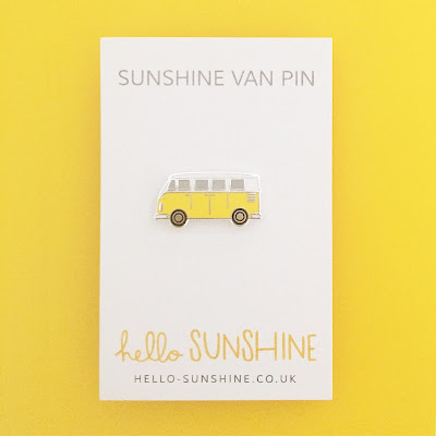 Sunshine Van enamel pin by Hello Sunshine