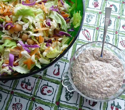 Chickpea & Cabbage Salad with Tahini - Za'atar Dressing