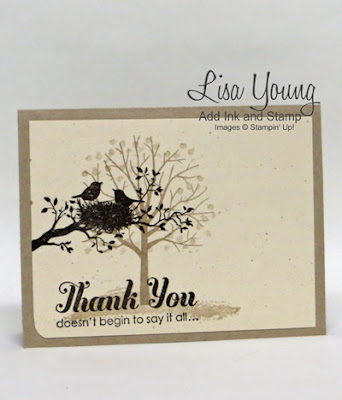 Stampin' Up! World of Dreams stamp set with Sheltering Tree stamp set. Handmade card by Lisa Young, Add Ink and Stamp