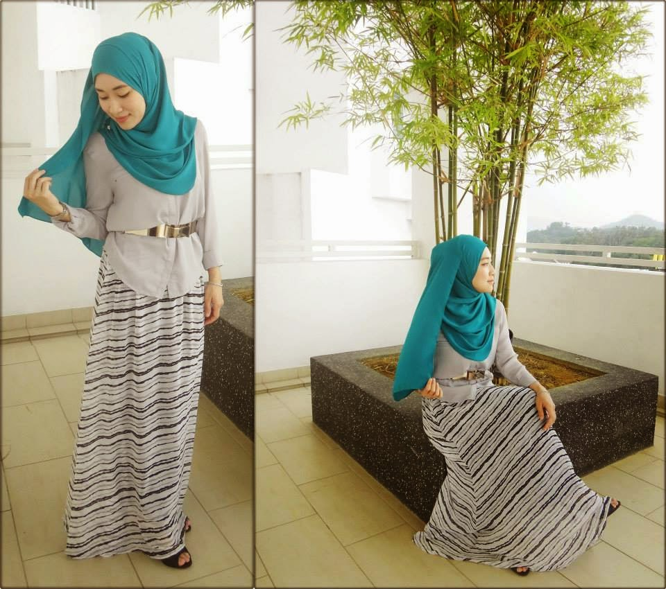 Model Rok Sifon Panjang Muslimah Hijabers Terbaru 2016