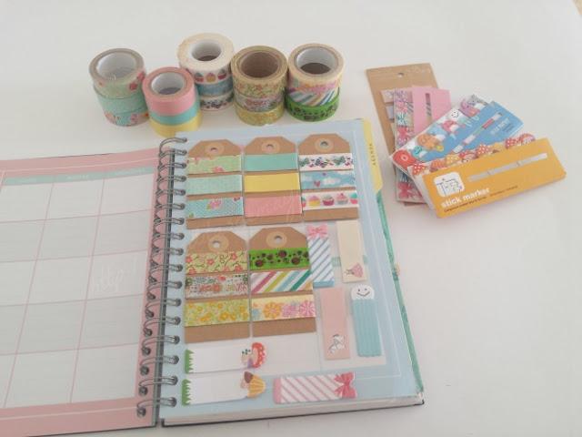 como usar washi tape para decorar la agenda