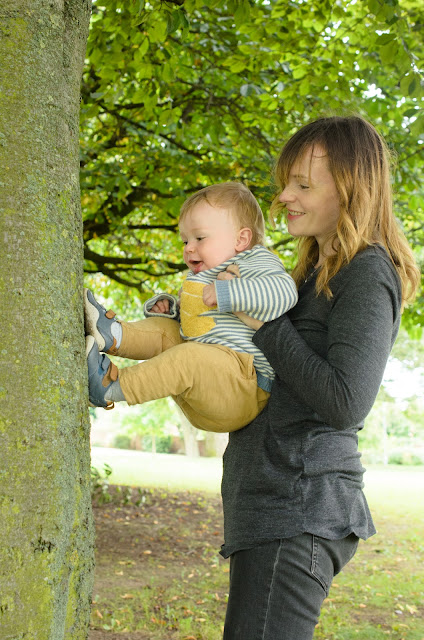 Jonah climbing a tree!