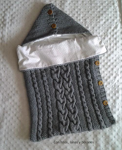 Con hilos, lanas y botones: Saco de punto para bebé