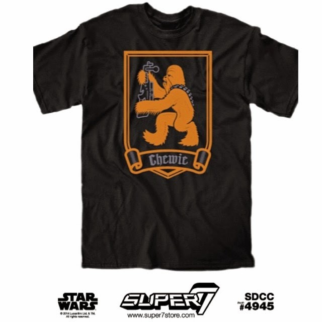 "San Diego Comic-Con 2014 Exclusive Star Wars T-Shirt Collection by Super7 - ""Ye Ol Wookie"""