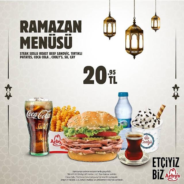 Arby's Ramazan Menüsü  Arby's iftar menüsü ramazan 2019