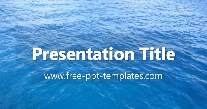 ocean ppt template