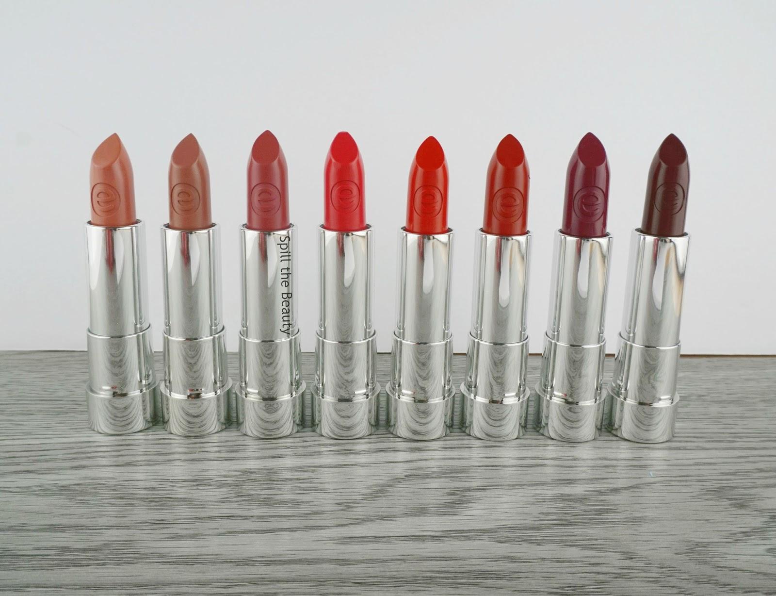 essence matt matt matt lipstick review swatches