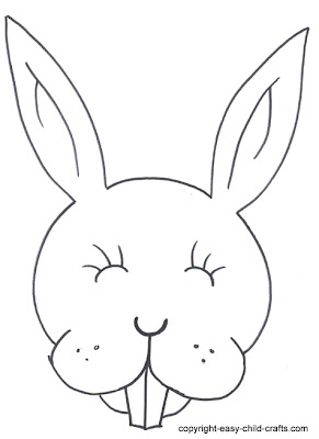 Rabbit Mask Coloring Pages - Colorings.net