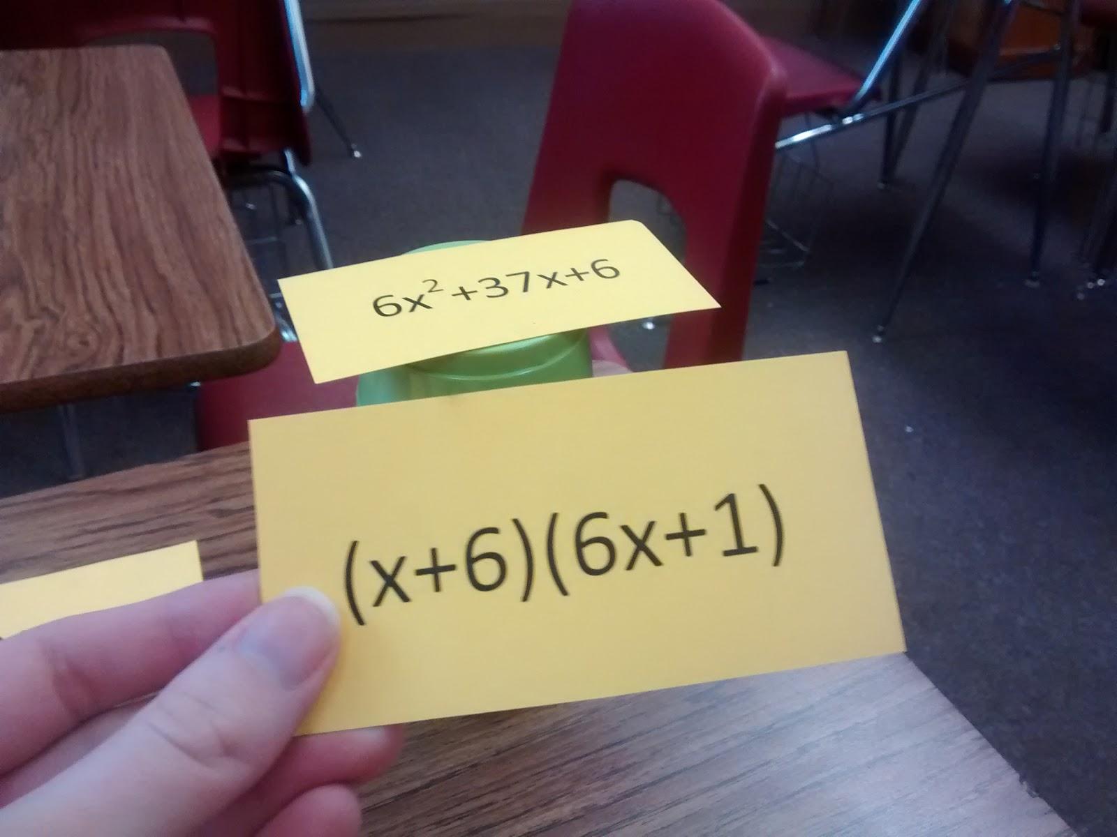 Math Love Factoring Trinomials Self Checking Practice