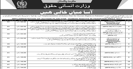 Latest Jobs in Wazarat Qanoon Insaf Jobs 2019 Apply Online