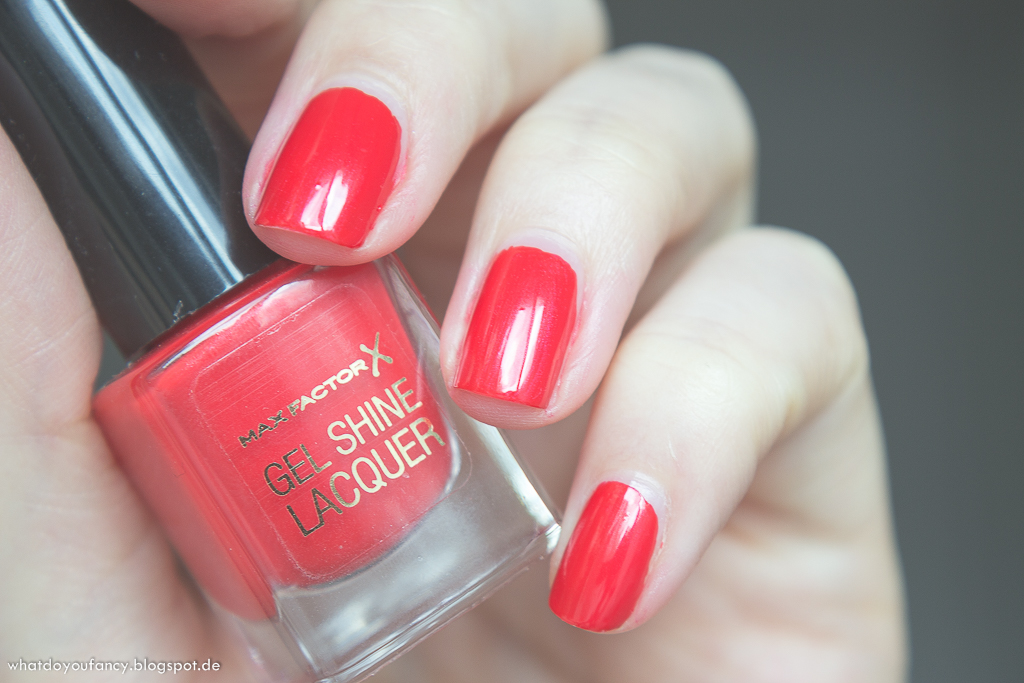 Max Factor Gel Shine Lacquer Patent Poppy Nagellack
