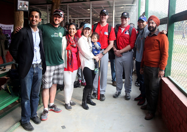 Rosie Sahni, Raunaq Sahni, And Baseball Coaches   with Canadian High Commissioner Nadir Patel and his wife