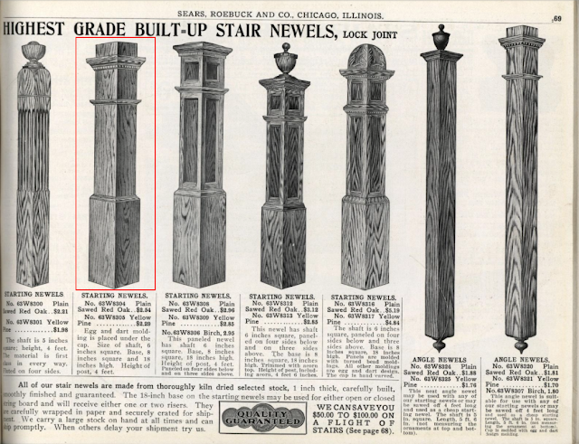 Sears staircase newel options