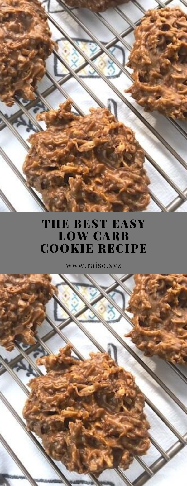 The BEST Easy Low Carb Cookie Recipe #cookies #keto #lowcarb #peanutbutter