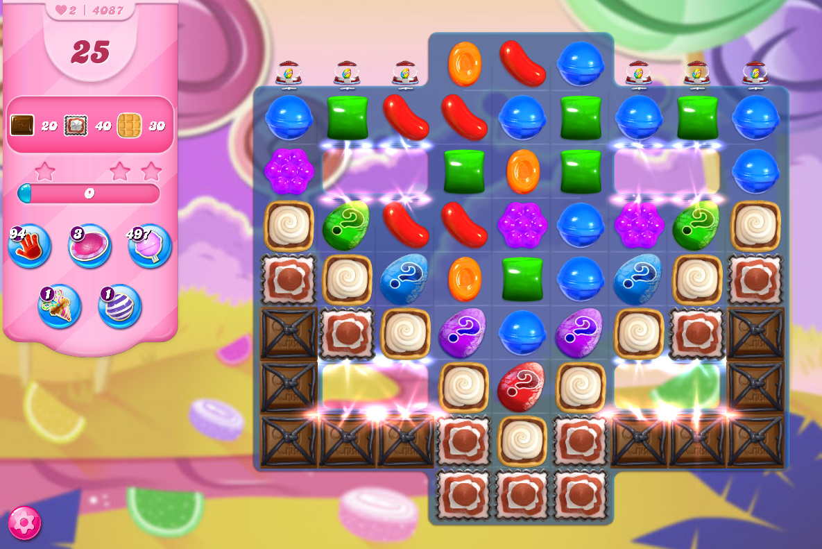 Candy Crush Saga level 4087