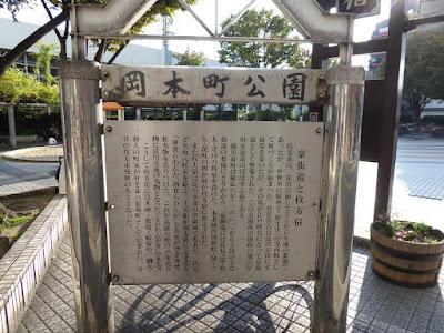 岡本町公園、京街道と枚方宿 解説