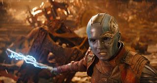 Karen Gillan Nebula still from Infinity War