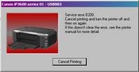 Résoudre l'erreur B200, B203 sur les imprimantes Canon