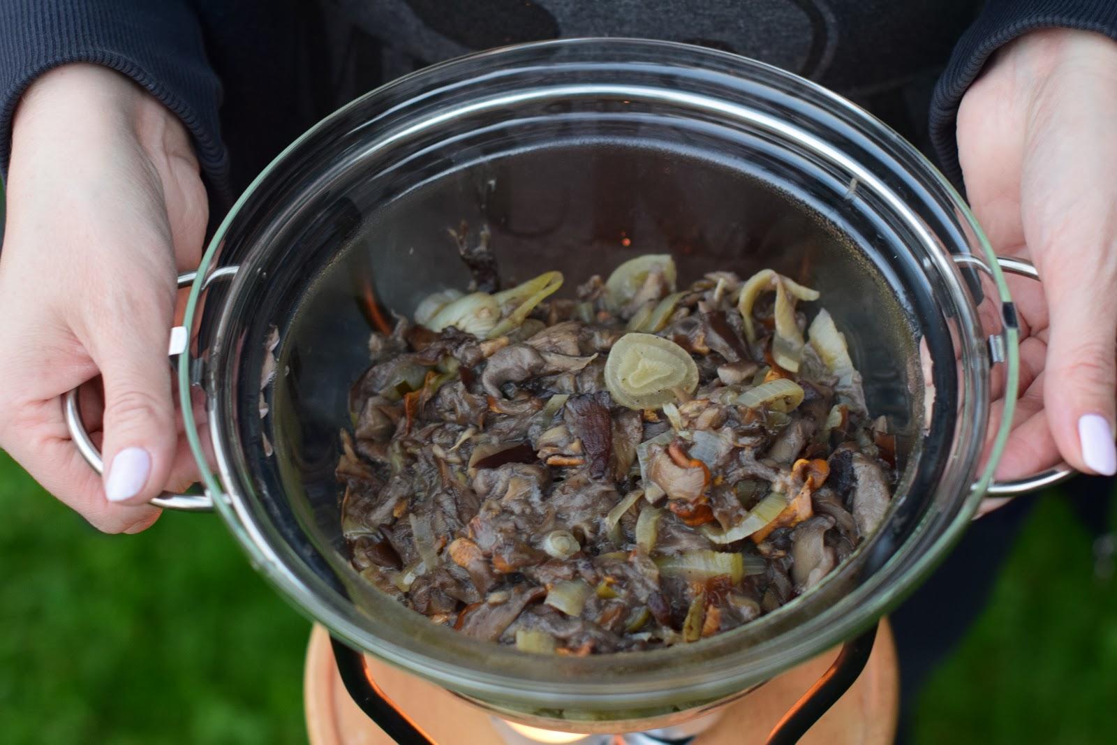 Dynia faszerowana grzybami