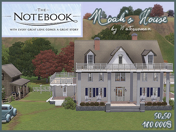 My Sims 3 Blog The Notebook Noah S House By Water Woman