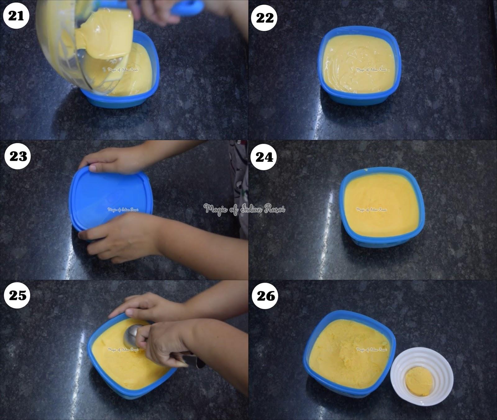 Mango Ice Cream with Amul Fresh Cream - मैंगो आइस क्रीम अमूल क्रीम के साथ  रेसिपी - Priya R - Magic of Indian Rasoi