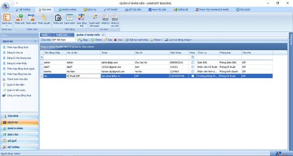 Phần mềm quản lý tòa nhà giúp quản lý công nợ Thủ Đô Invest
