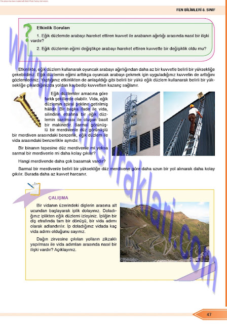 Öğün Yayınları 8. Sınıf Fen Bilimleri Ders Kitabı Cevapları Sayfa 47