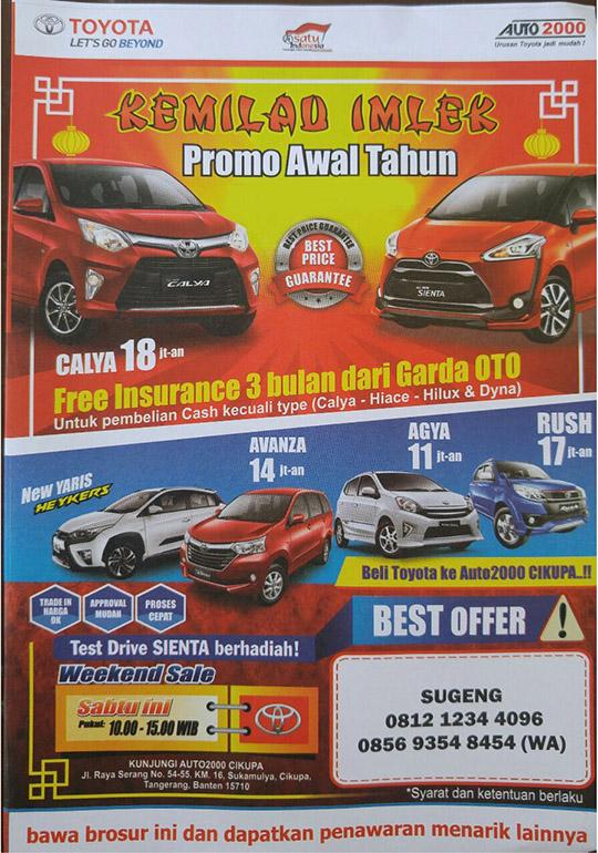 Promo Toyota Pasar Kemis Tangerang Banten