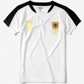 camisetas niños Alemania Zara