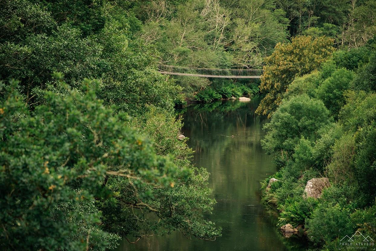 Ponte suspensa nos Passadiços do Paiva