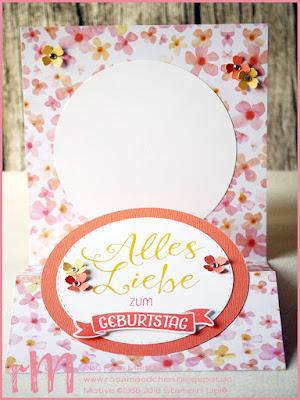 Stampin' Up! rosa Mädchen Kulmbach: Z-Fold Karte mit Grüße rund ums Jahr und Itty Bitty Akzente