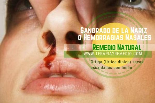 Remedio natural para las hemorragias nasales o sangrado de la nariz