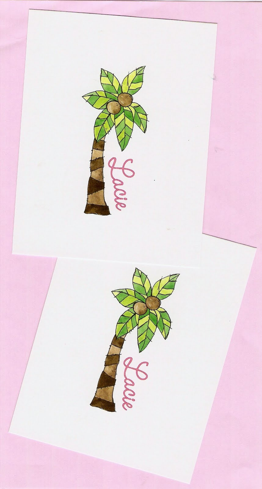 doodle bugs paper personalized stationery funky palm tree
