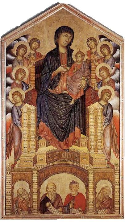 Madona em Majestade - Giovanni Cimabue e suas pinturas ~ O criador de mosaicos