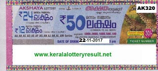 KERALA LOTTERY, kl result yesterday,lottery results, lotteries results, keralalotteries, kerala lottery, keralalotteryresult, kerala lottery result,   kerala lottery result live, kerala lottery results, kerala lottery today, kerala lottery result today, kerala lottery results today, today kerala lottery   result, kerala lottery result 22-11-2017, Akshaya lottery results, kerala lottery result today Akshaya, Akshaya lottery result, kerala lottery result   Akshaya today, kerala lottery Akshaya today result, Akshaya kerala lottery result, AKSHAYA LOTTERY AK 320 RESULTS 22-11-2017,   AKSHAYA LOTTERY AK 320, live AKSHAYA LOTTERY AK-320, Akshaya lottery, kerala lottery today result Akshaya, AKSHAYA   LOTTERY AK-320, today Akshaya lottery result, Akshaya lottery today result, Akshaya lottery results today, today kerala lottery result   Akshaya, kerala lottery results today Akshaya, Akshaya lottery today, today lottery result Akshaya, Akshaya lottery result today, kerala lottery   result live, kerala lottery bumper result, kerala lottery result yesterday, kerala lottery result today, kerala online lottery results, kerala lottery   draw, kerala lottery results, kerala state lottery today, kerala lottare, keralalotteries com kerala lottery result, lottery today, kerala lottery today   draw result, kerala lottery online purchase, kerala lottery online buy, buy kerala lottery online