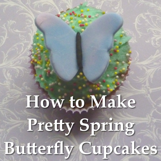How to Make Butterfly Toppers for Cupcakes the EASY Way Using Ready to Roll Fondant Icing Butterflies Spring Easter Cakes
