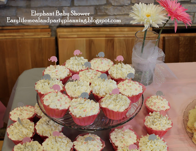 Elephant Decorated Cupcakes - Easy Life Meal & Party Planning