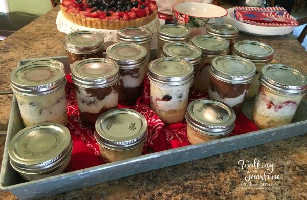 Easy No Bake Desserts In Mason Jars Walking On Sunshine
