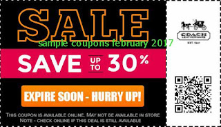 Coach coupons february 2017