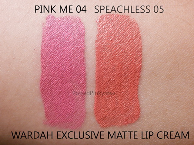 Potted Pinkyrose: Review : Wardah Exclusive Matte Lip